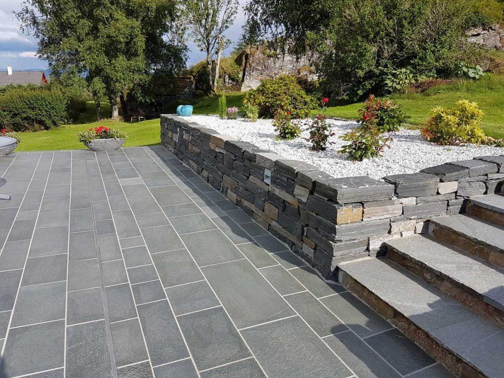 naturstein til hagen hagestein trapp i hage