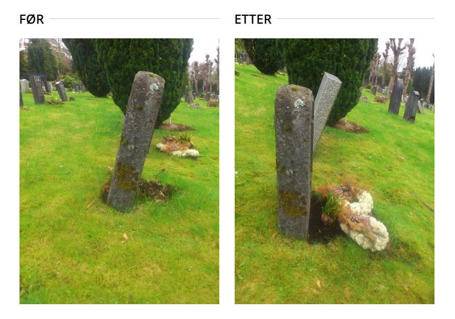 oppretting av gravstein gravsted tjenester i bergen